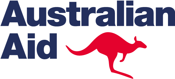 australian aid blue and red
